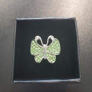 Jewelry - Crystal Butterfly Sterling Silver Ring